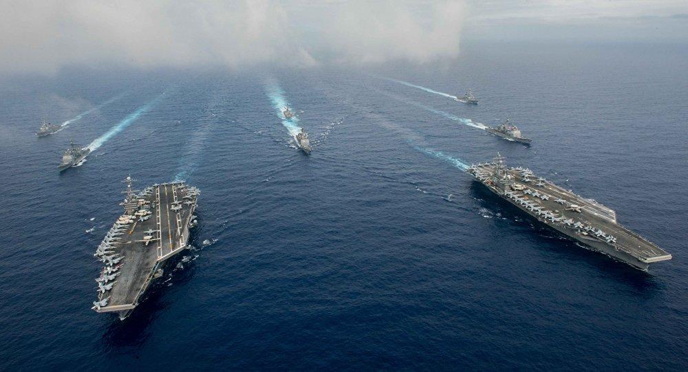Los buques de la Armada de EEUU (archivo)