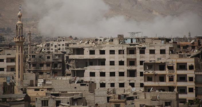 El barrio de Al Kabun, al este de Damasco (archivo)