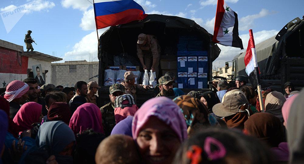 La ayuda humanitaria de Rusia para los ciudadanos de Siria (archivo)