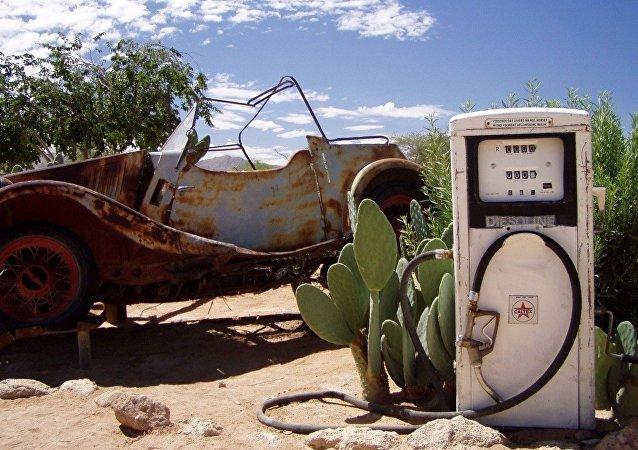 Una gasolinera vieja