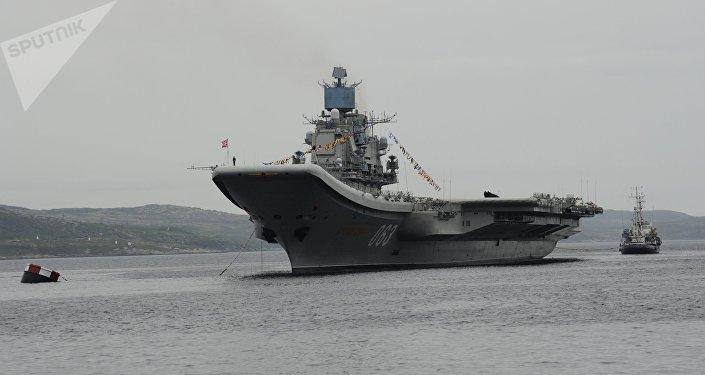 El portaviones ruso Almirante Kuznetsov (archivo)