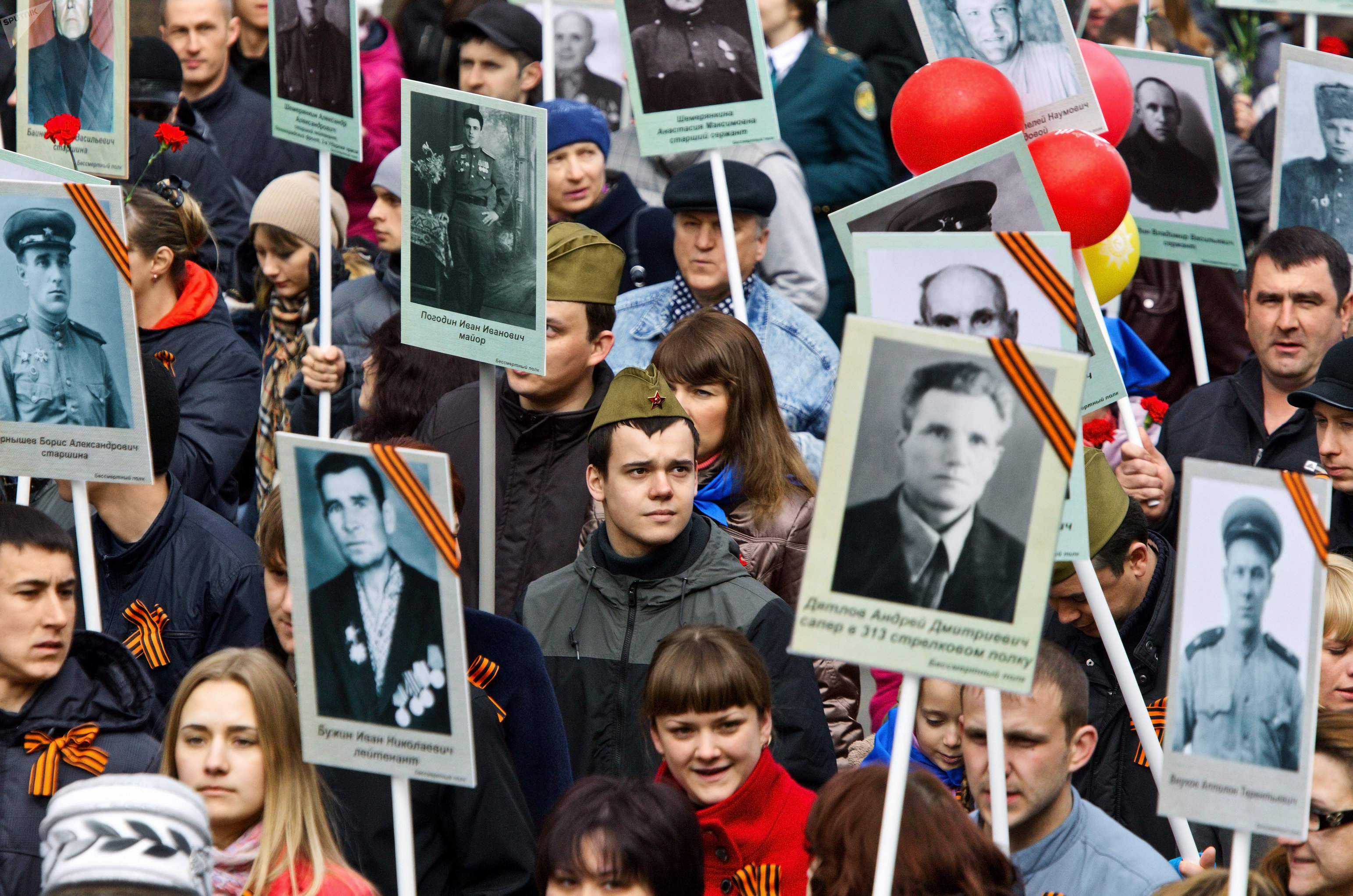 Regimiento Inmortal en la ciudad rusa de Tomsk