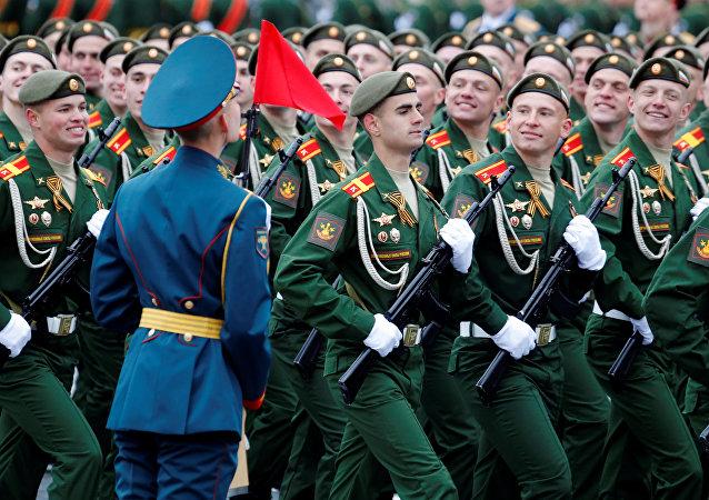 Desfile militar en Moscú, Rusia (archivo)