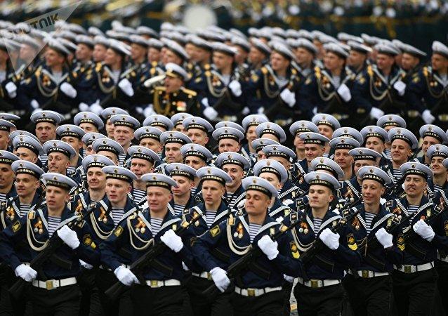 Marchan las unidades de la Armada de Rusia