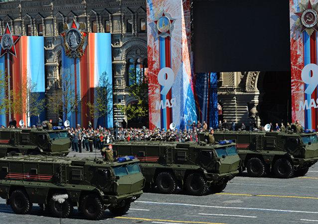 Los tanques Taifun-K durante el desfile del 9 de mayo en Moscú (archivo)