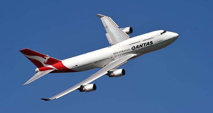 Un avión de Qantas Airways