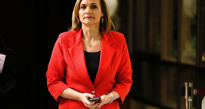 La candidata presidencial de la Democracia Cristiana (DC) de Chile, Carolina Goic