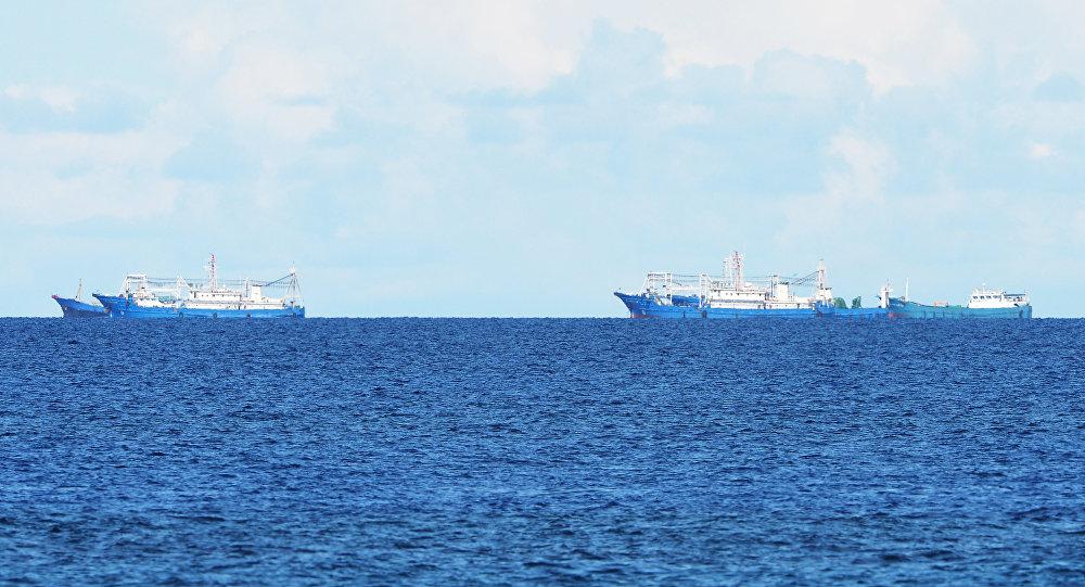 Buques chinos en el mar de China Meridional (archivo)