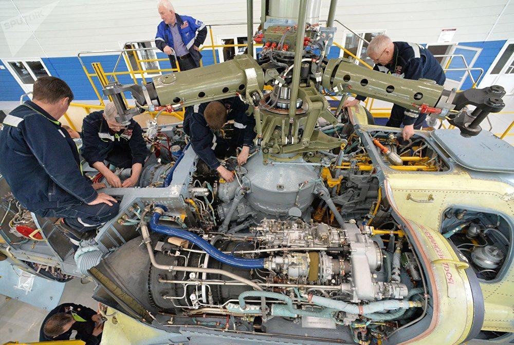 El 'nacimiento' de los Aligator: así se construyen los Ka-52