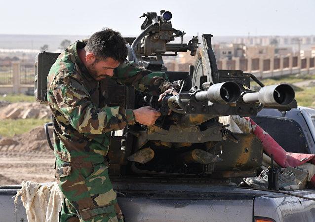 Un militar sirio en Deir Ezzor (archivo)