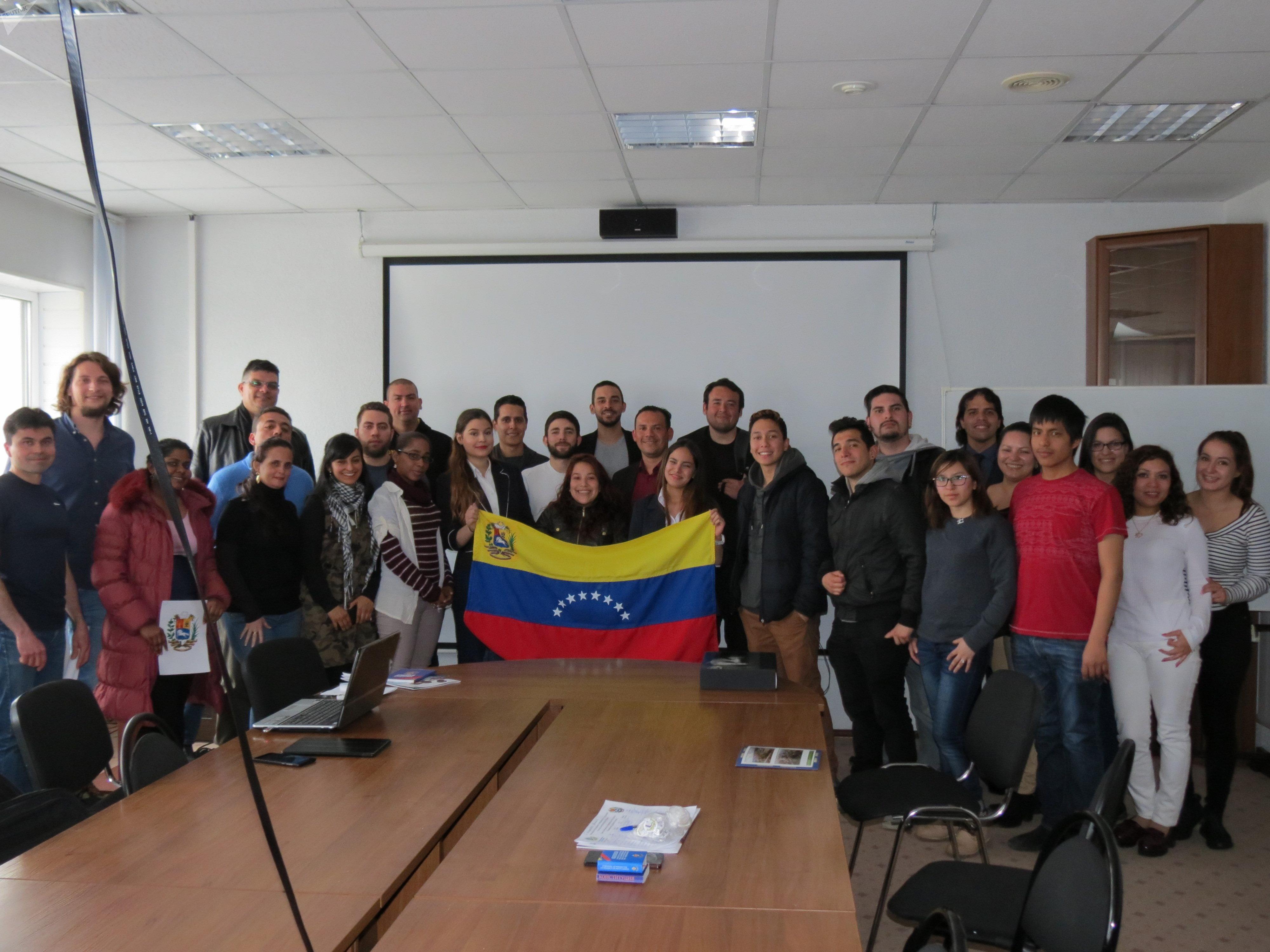 Participantes de la conferencia en la Universidad Rusa de la Amistad de los Pueblos (RUDN)