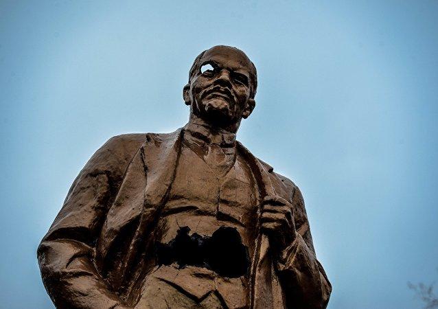 Monumento a Lenin en Shajtersk (archivo)