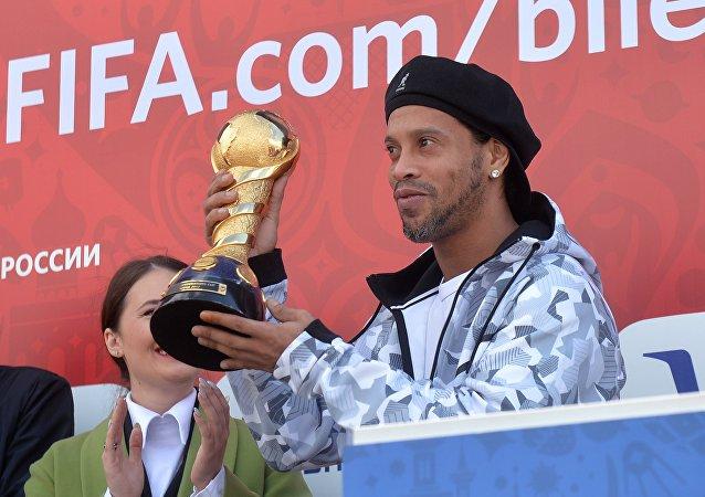 Ronaldinho inaugura el parque de la Copa Confederaciones 2017 en la ciudad rusa de Kazán