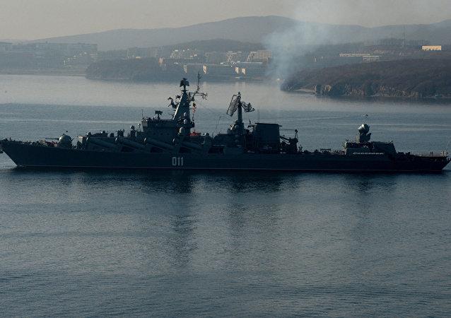 El crucero portamisiles Variag