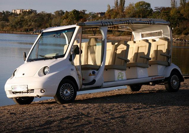 'Dilizhans', el autobús eléctrico fabricado por la empresa rusa ELGO en Crimea