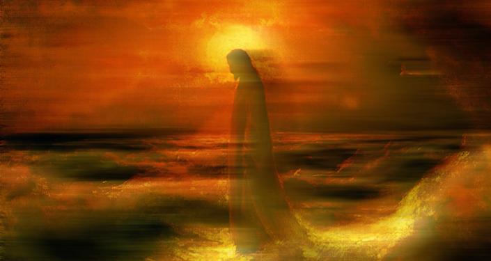 Jesús anda por el agua