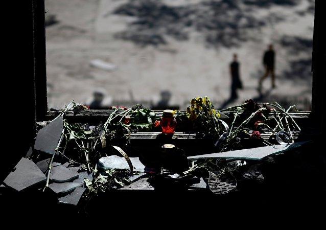 Homenaje a las víctimas del incendio en la Casa de los Sindicatos en Odesa (archivo)