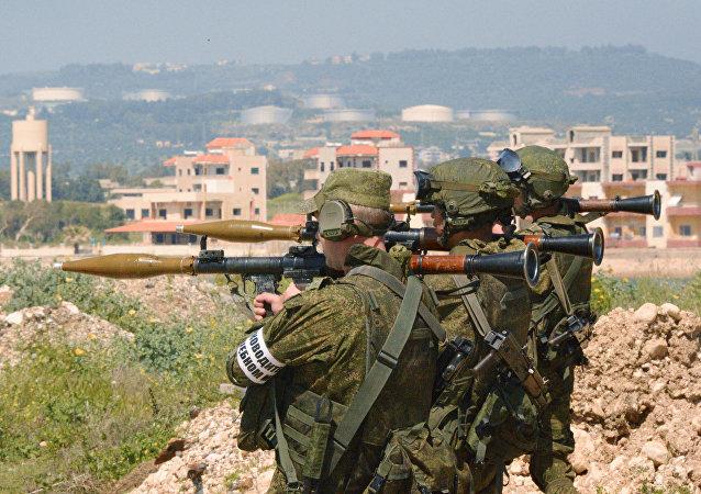 Maniobras militares conjuntas de Rusia y de Siria en Tartus