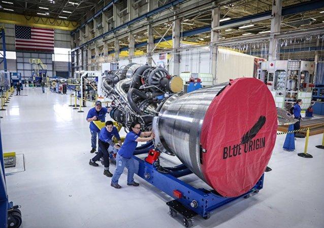 Uno de los propulsores BE-4 de Blue Origin