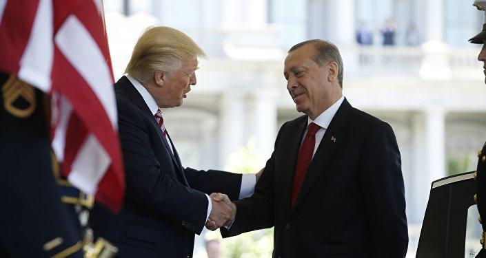 Presidente de EEUU, Donald Trump, y el presidente de Turquía, Recep Tayyip Erdogan
