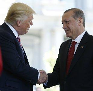 Presidente de EEUU, Donald Trump, y presidente de Turquía, Recep Tayyip Erdogan