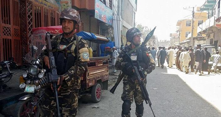 Las fuerzas seguridad de Afganistán en Jalalabad