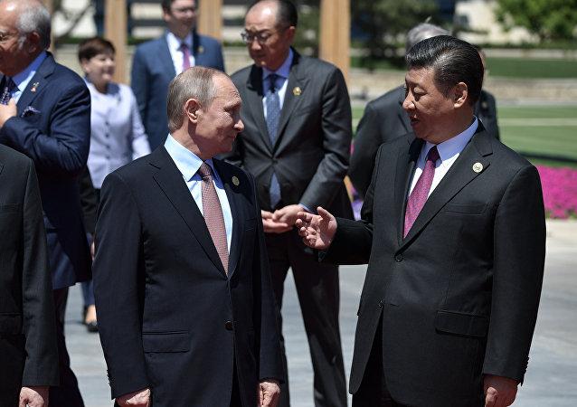 Presidente ruso, Vladímir Putin y presidente chino Xi Jiping