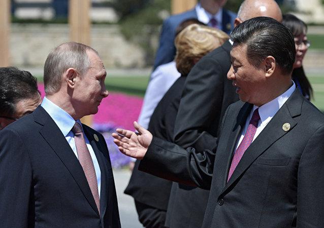 Vladímir Putin, presidente de Rusia, y Xi Jimping, presidente de China (archivo)