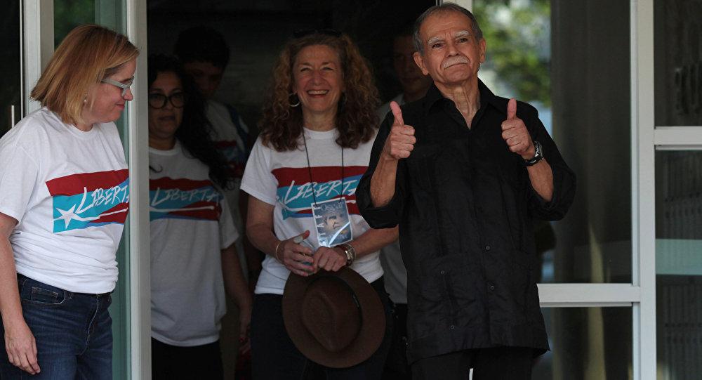 El independentista puertorriqueño López Rivera tras su liberalización