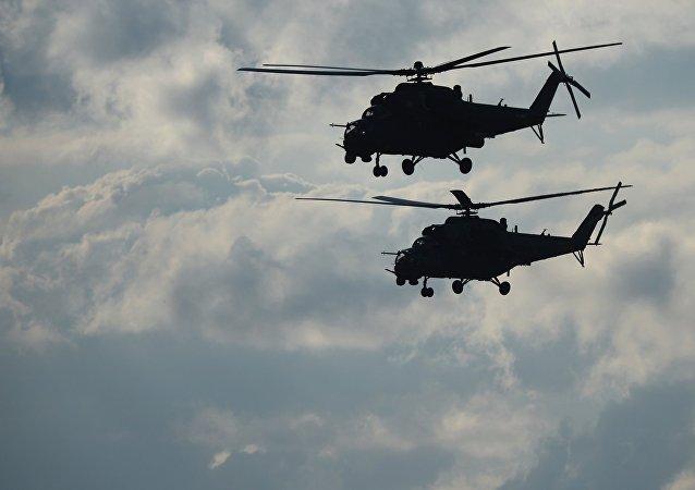 Helicópteros de combate rusos Mi-35