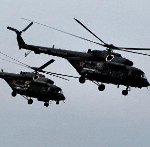 Helicópteros rusos Mi-8 AMTSH (imagen referencial)