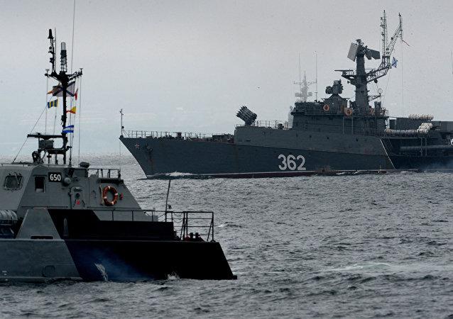 Buques de la Flota rusa del Pacífico (archivo)