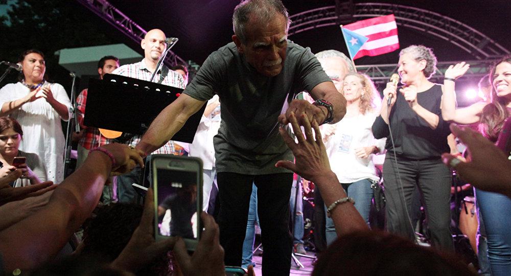 El líder independentista puertorriqueño Oscar López Rivera