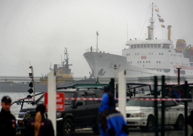 Primer ferri de la ruta marítima Rajin-Vladivostok (archivo)