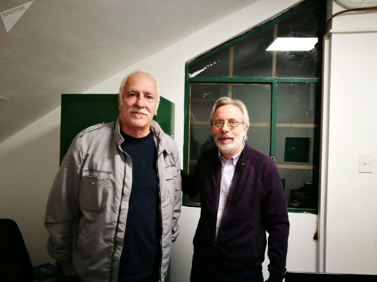 Luis Vainikoff expropietario del Cine Cosmos '70 junto a Gabriel Guralnik, actual director del Cine Cosmos UBA.