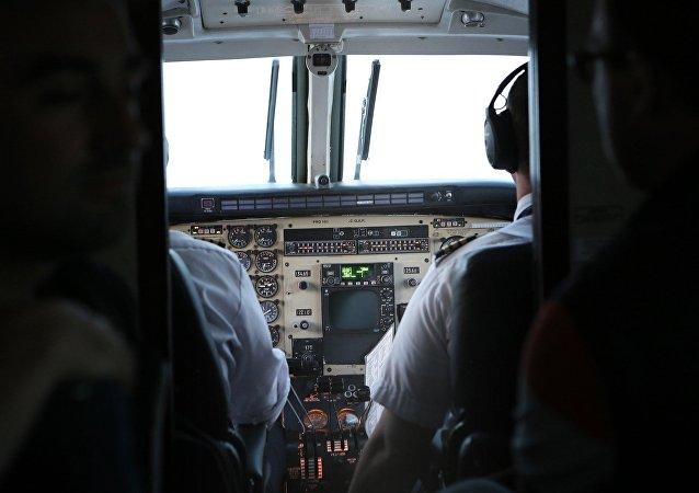 Cabina de un avión (archivo)