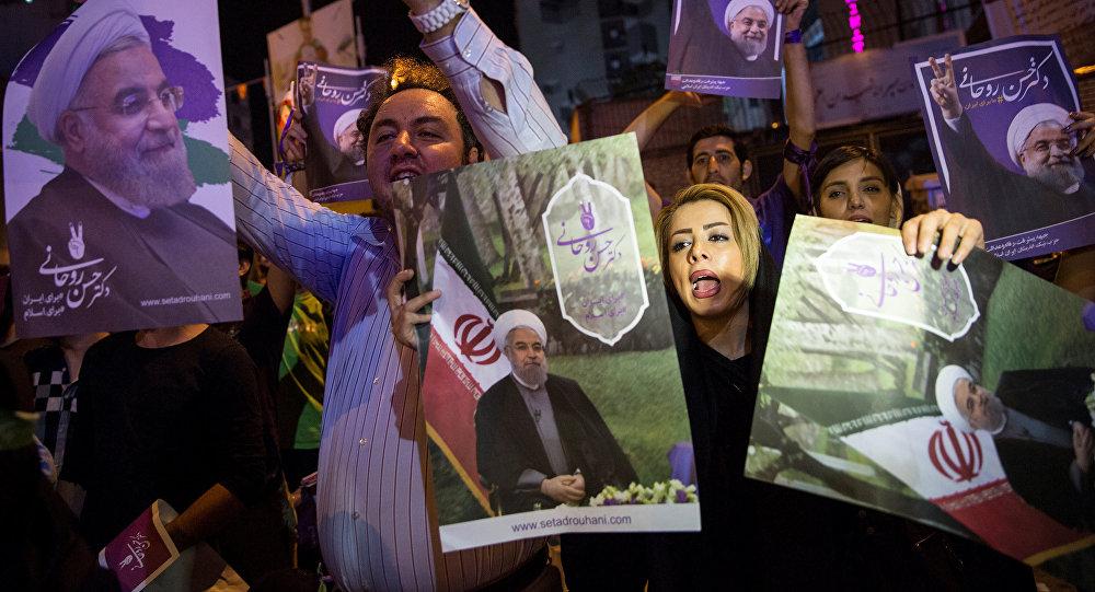 Los partidarios de Hasán Rohaní en Teherán