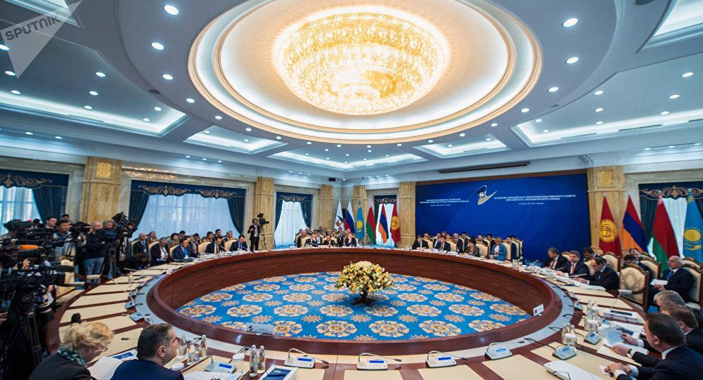 Una sesión de la Unión Económica Euroasiática (archivo)