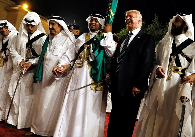 El presidente de EEUU, Donald Trump, en Riad