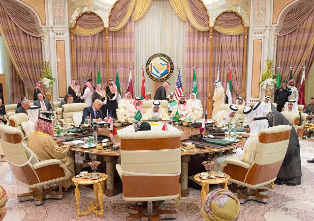 Donald Trump en la cumbre del Consejo de Cooperación para los Estados Árabes del Golfo