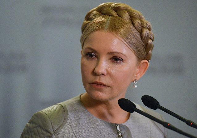 Yulia Timoshenko, líder del partido Batkívschina y ex primer ministra de Ucrania