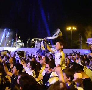 Madridistas celebran en Cibeles fin de sequía liguera
