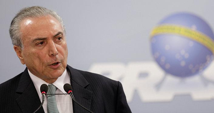 Atacan la residencia del presidente Michel Temer. de Brasil
