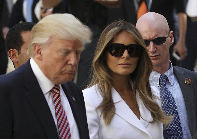 Donald y Melania Trump en Jerusalén, Israel, 22 de mayo de 2017