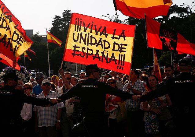 Protestas en Madrid, España (archivo)