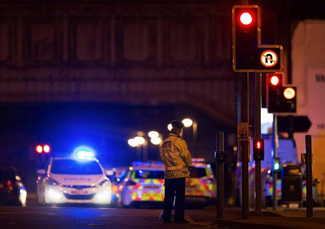 Un policía en la ciudad británica de Mánchester