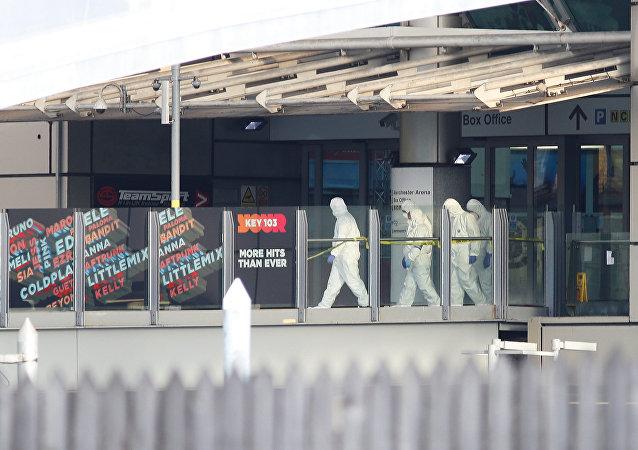 Policía inspecciona el estadio británico Manchester Arena