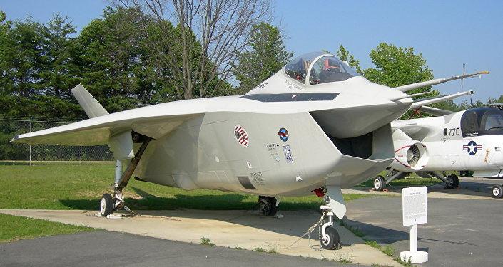 Prototipo del Boeing Joint Strike Fighter X-32B en el Museo del Aire de Patuxent River