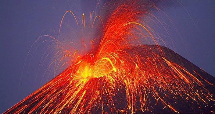 Volcán en erupción (imagen ilustrativa)
