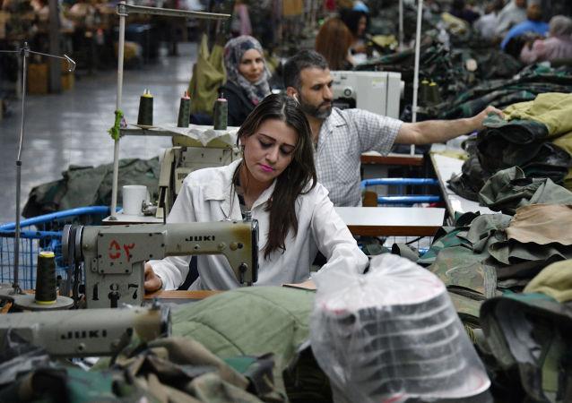 La producción industrial en Siria